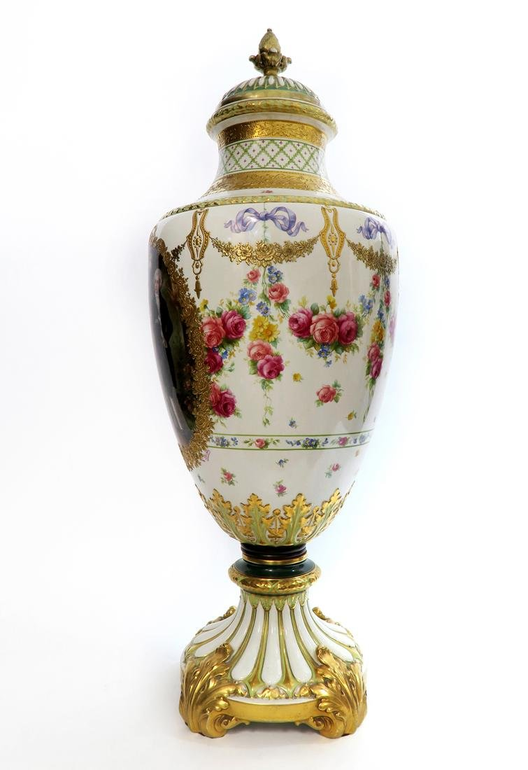 A Monumental French Sevres Hand Painted Vase - 4