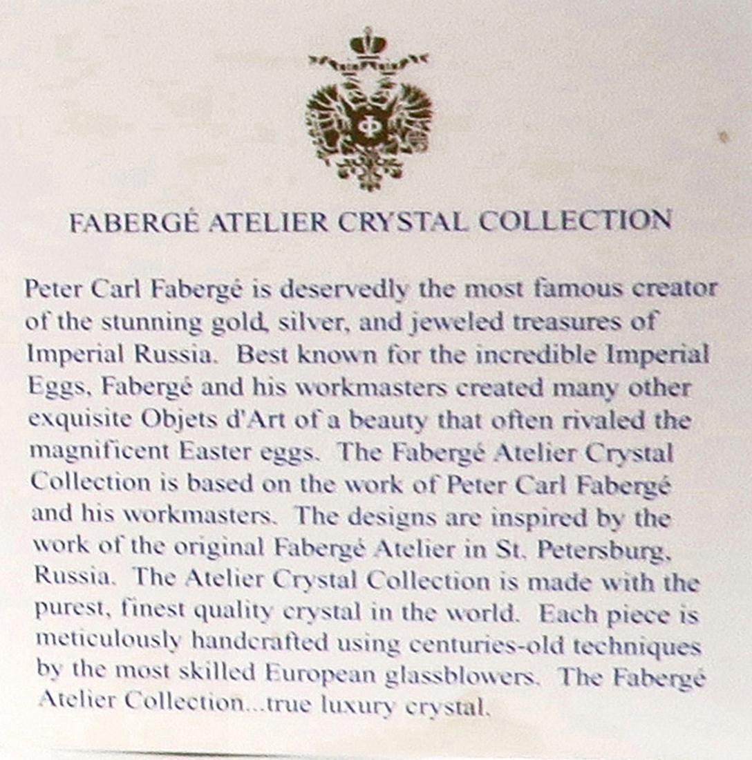Faberge Cut Crystal & Bronze Ice Bucket - 4