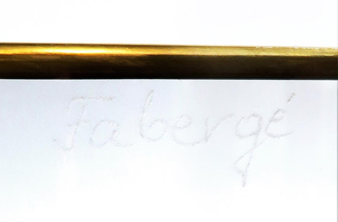 Faberge Cut Crystal & Bronze Ice Bucket - 5