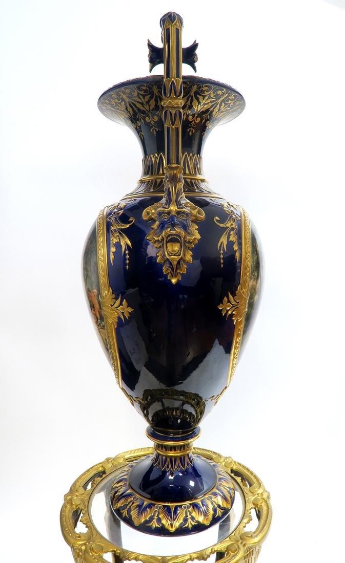 19th C. Monumental Royal Vienna Style Vase - 4
