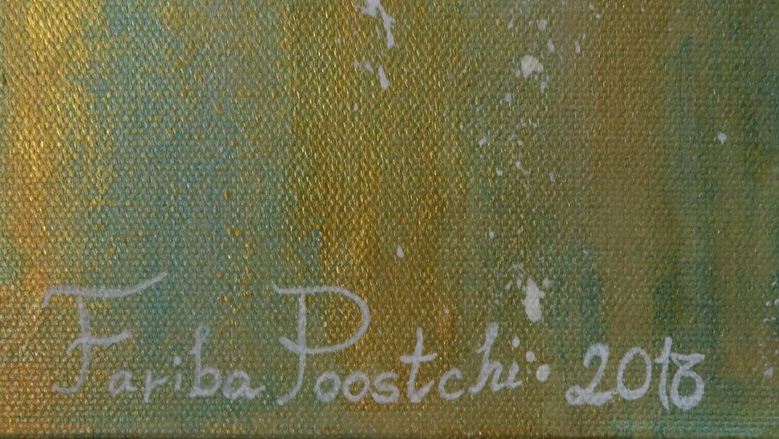 Abstract Acrylic on Canvas Wall Art By Fariba Poostchi - 2