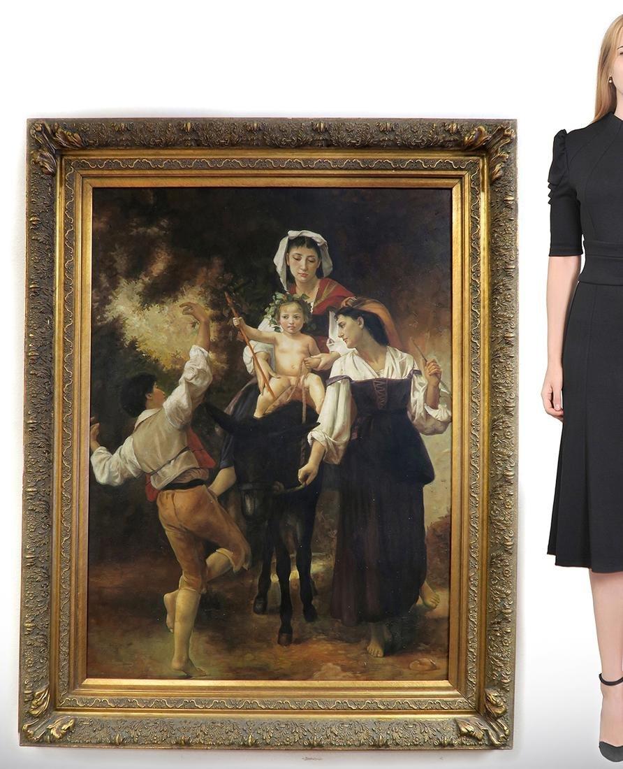 C. Bianchini (Italian 19th Century) Large Oil on Canvas