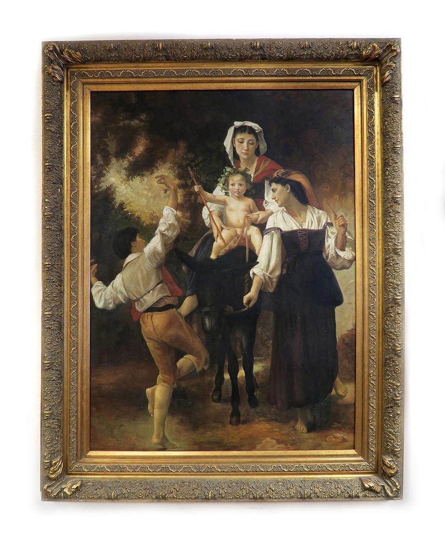 C. Bianchini (Italian 19th Century) Large Oil on Canvas - 2