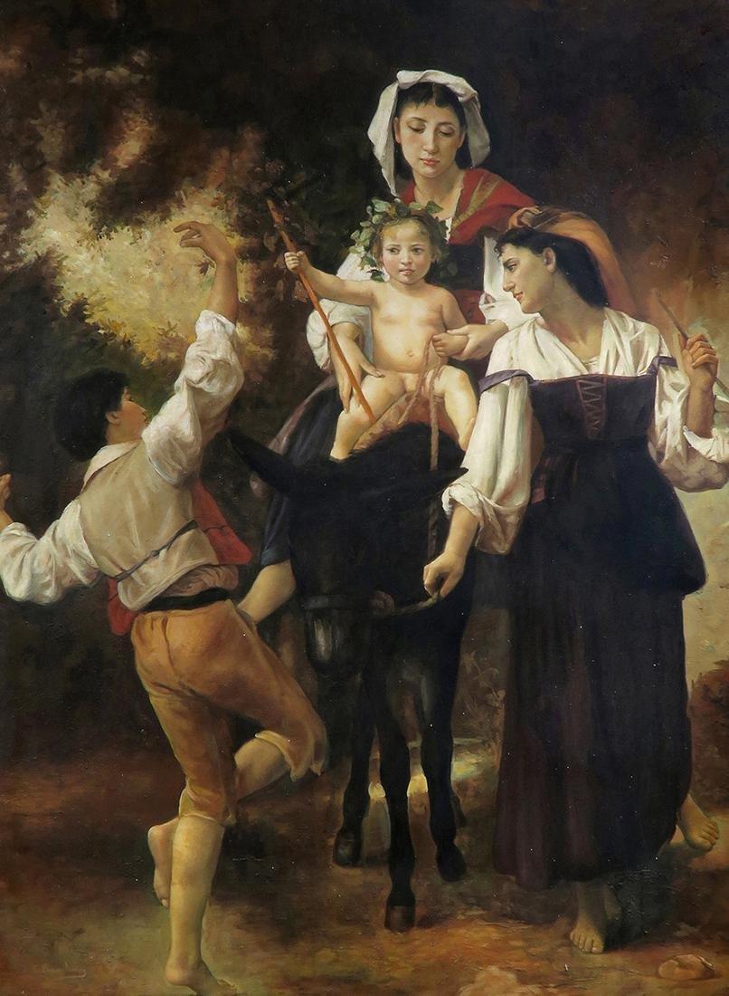 C. Bianchini (Italian 19th Century) Large Oil on Canvas - 3
