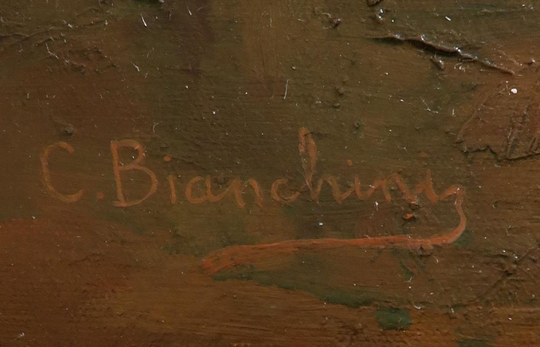 C. Bianchini (Italian 19th Century) Large Oil on Canvas - 4