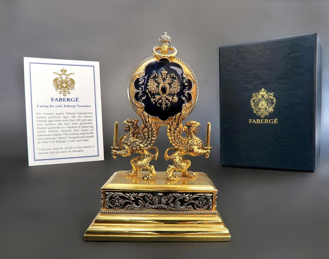 House of Faberge Pocket Watch. Signed