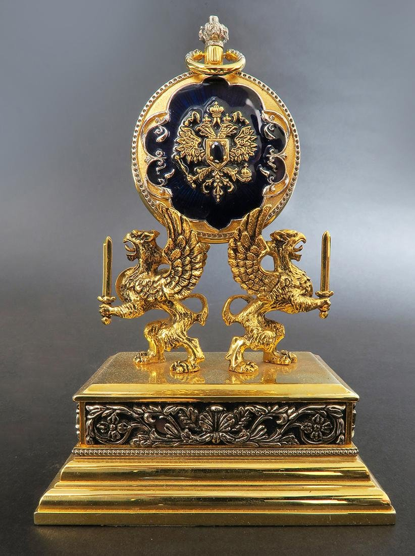 House of Faberge Pocket Watch. Signed - 2