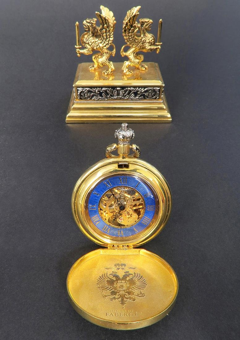 House of Faberge Pocket Watch. Signed - 3