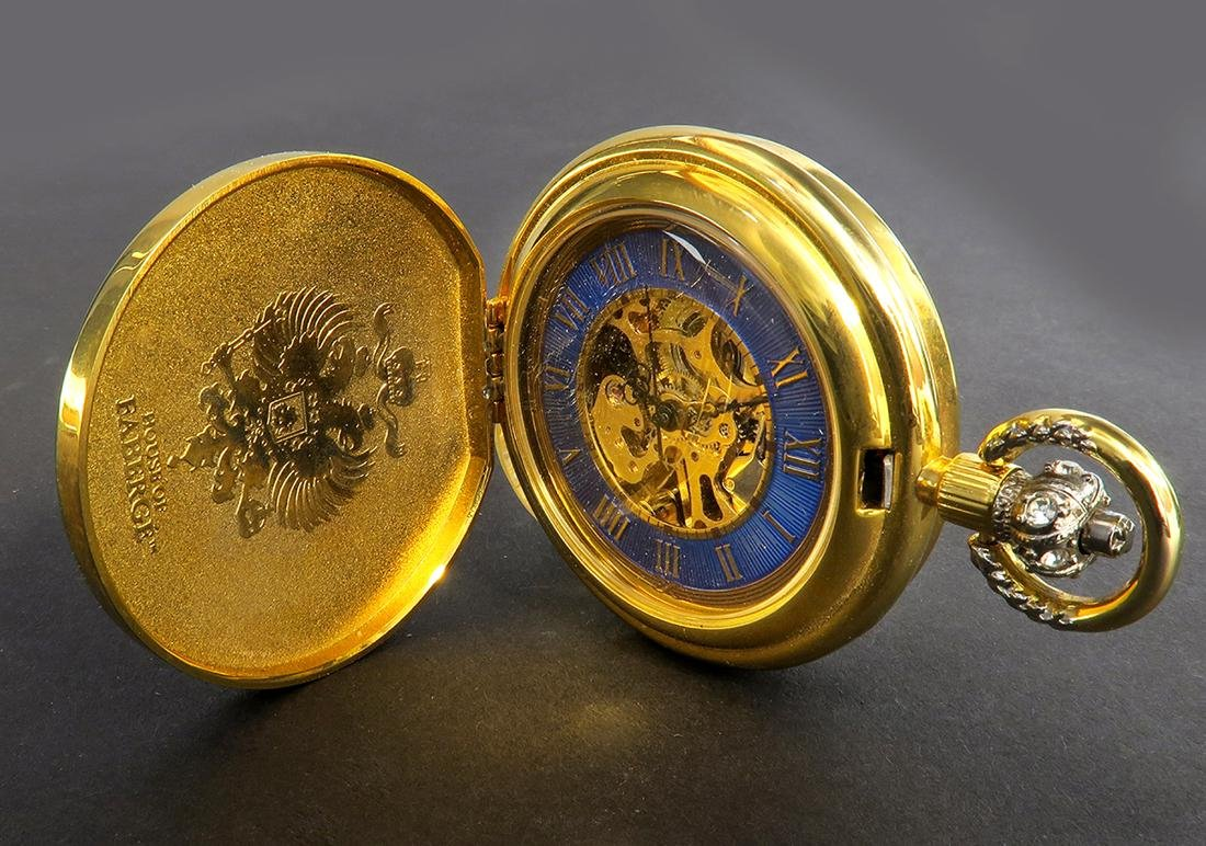 House of Faberge Pocket Watch. Signed - 4