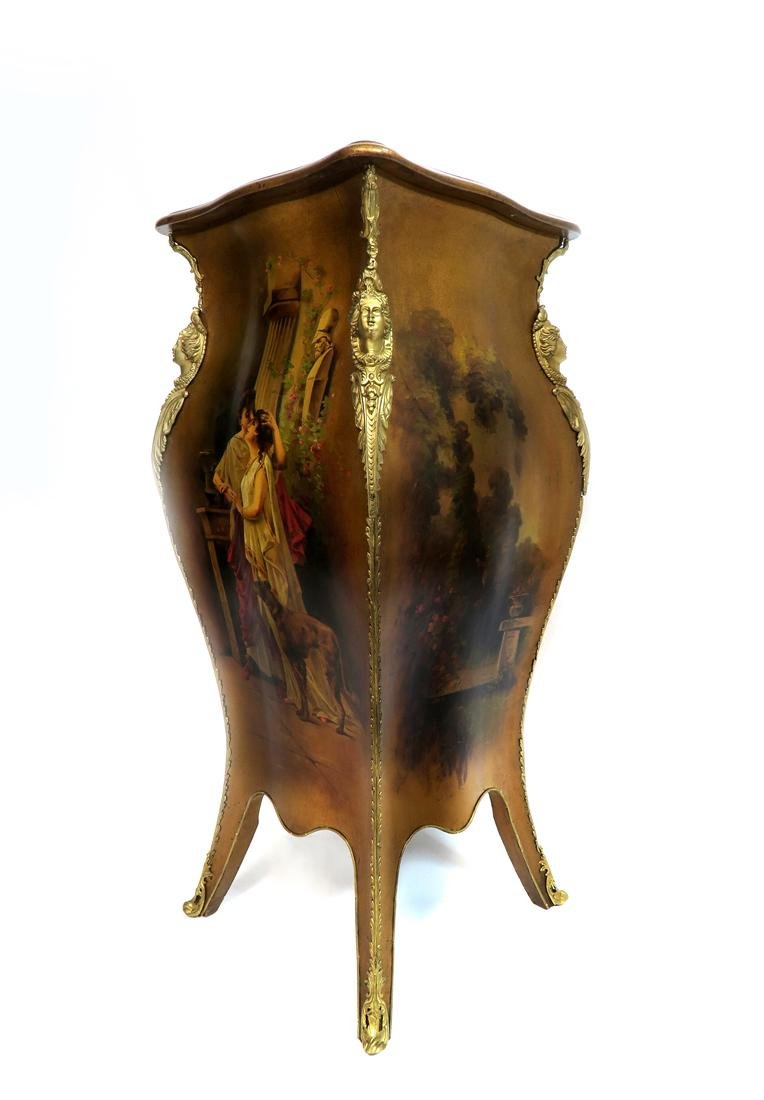 Hand Painted Vernis Martin & Bronze Pedestal. 19th C. - 3