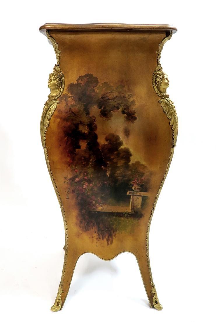 Hand Painted Vernis Martin & Bronze Pedestal. 19th C. - 4