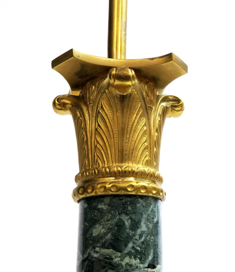 19th C. French Empire Bronze & Marble Lamp - 4