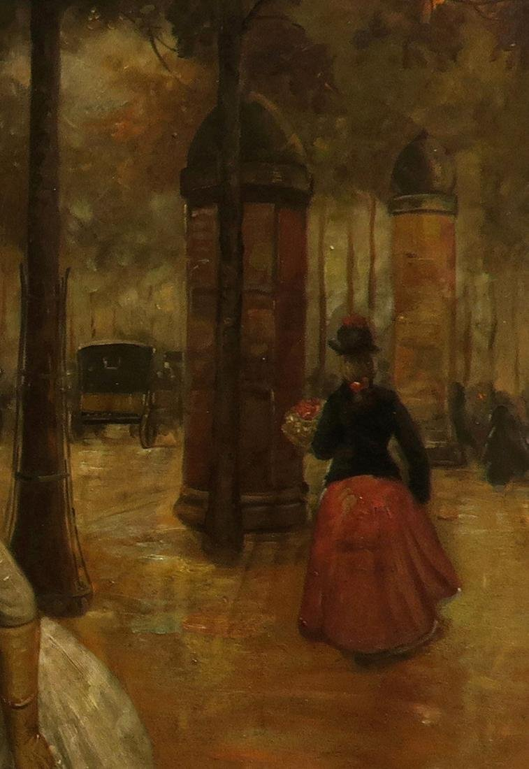 19th C. Continental Oil on Canvas Painting, The Florist - 5