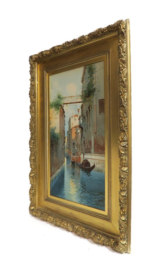19th C. Watercolor Painting Venice Gondola - 3