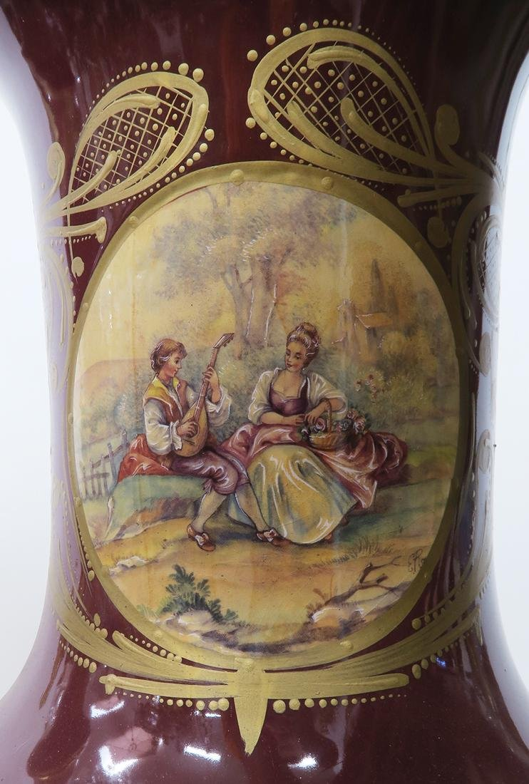Monumental Pair of Bronze Mounted Sevres Vases - 5