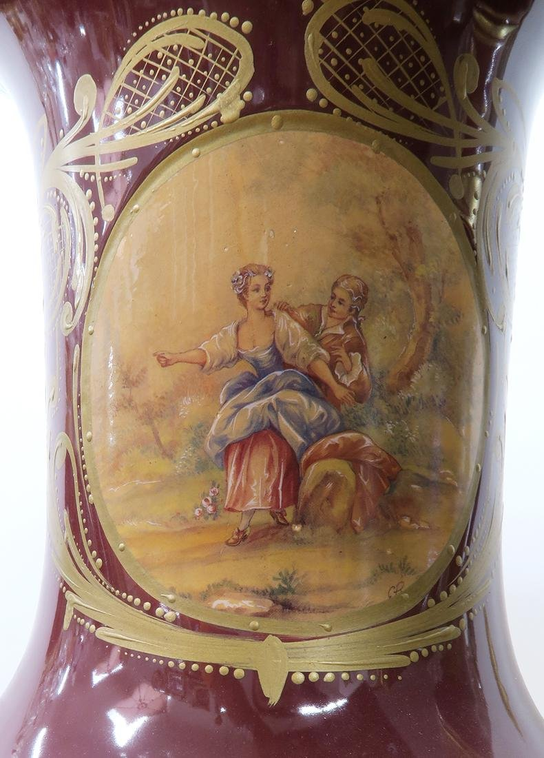 Monumental Pair of Bronze Mounted Sevres Vases - 6