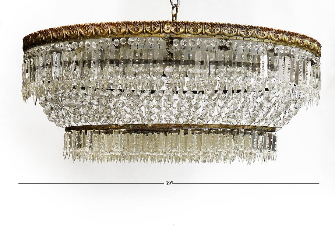 Crystal Baccarat style large chandelier