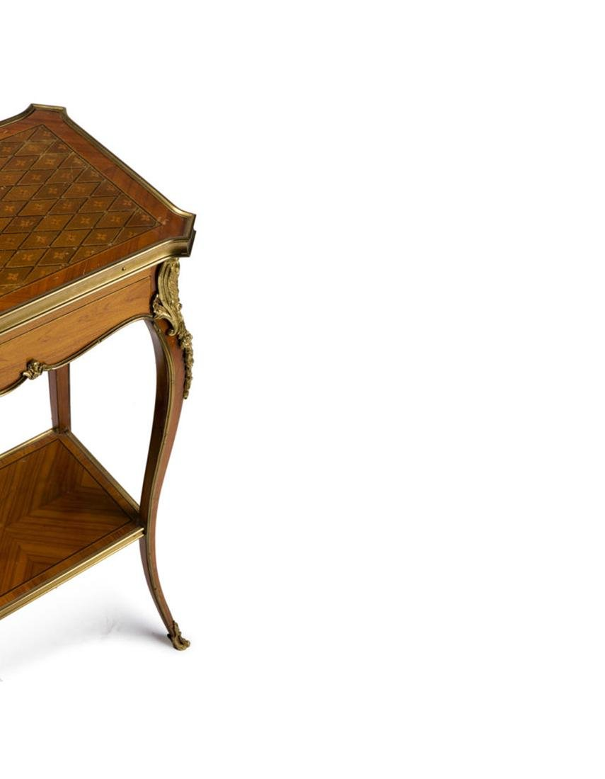 """Pair of side table """"Marquetry a la reine"""" style - 2"""