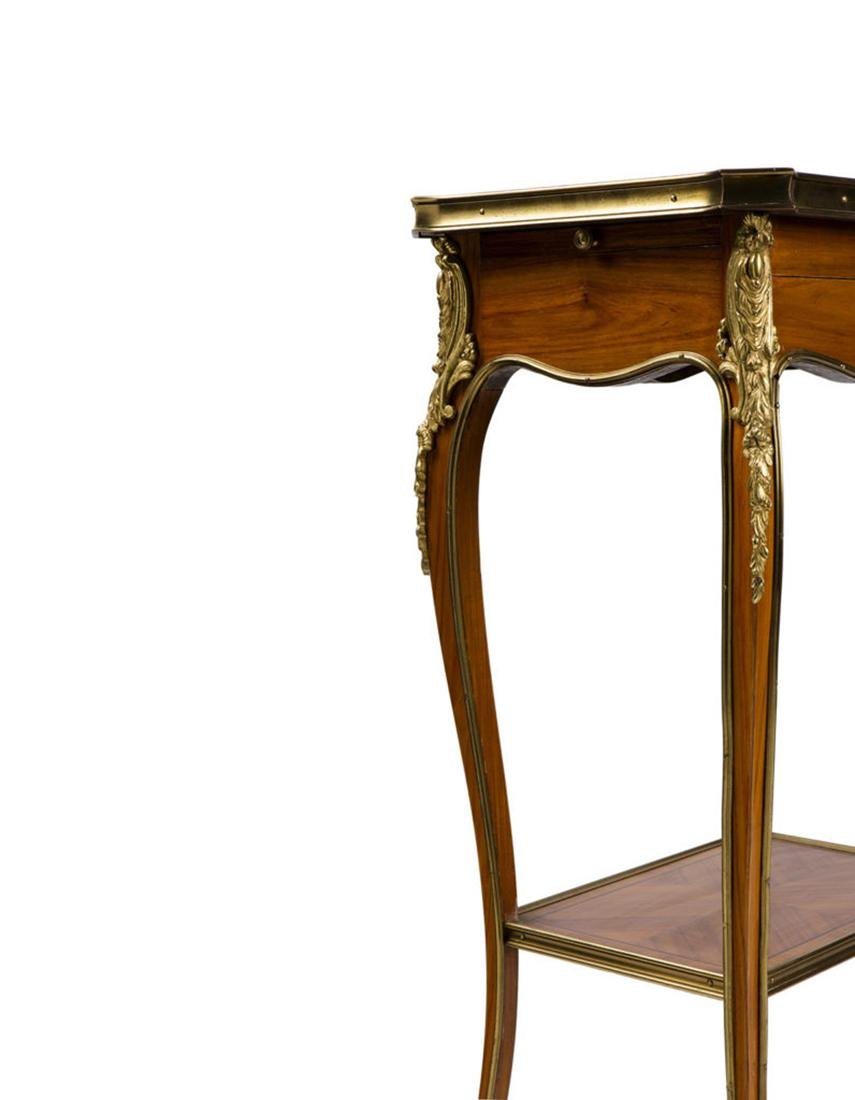 """Pair of side table """"Marquetry a la reine"""" style - 3"""