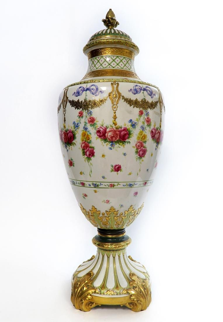 A Monumental French Sevres Hand Painted Vase - 5
