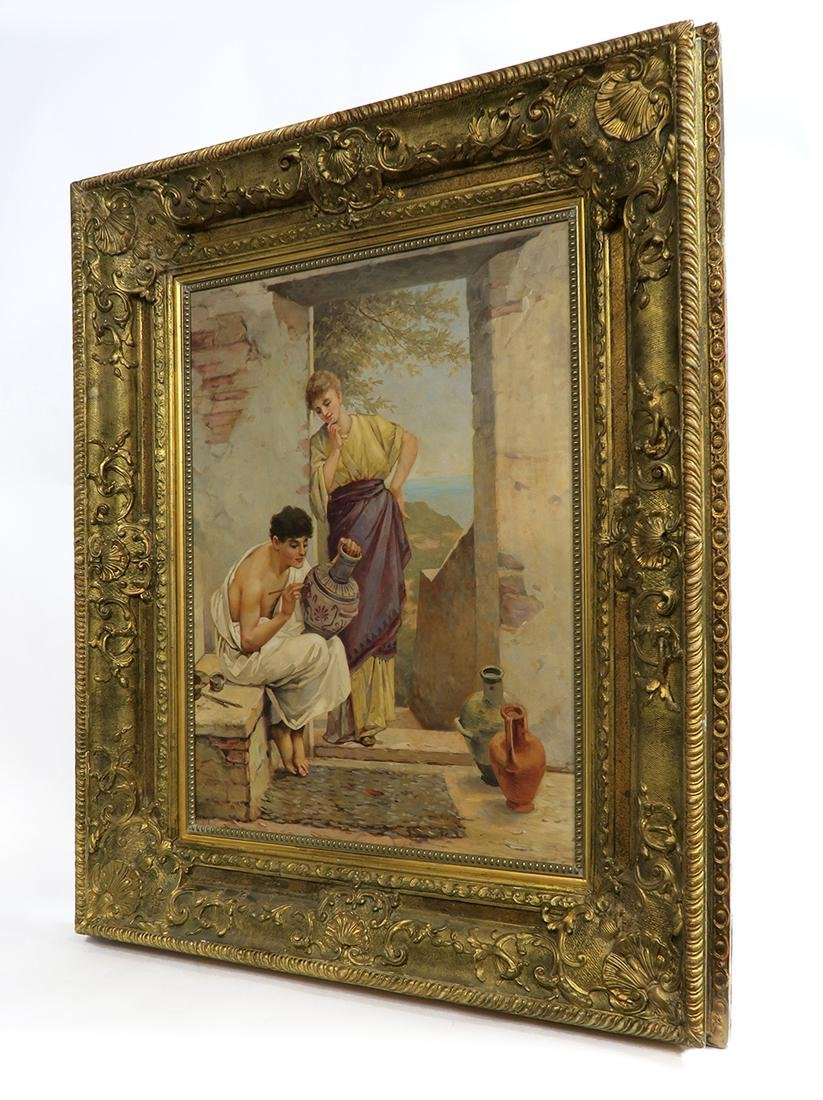 A Large 19th C. Continental Framed Oil on Canvas - 5