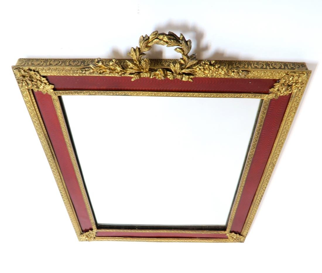 A Large 19th C. French Bronze & Enamel Frame/Mirror - 4