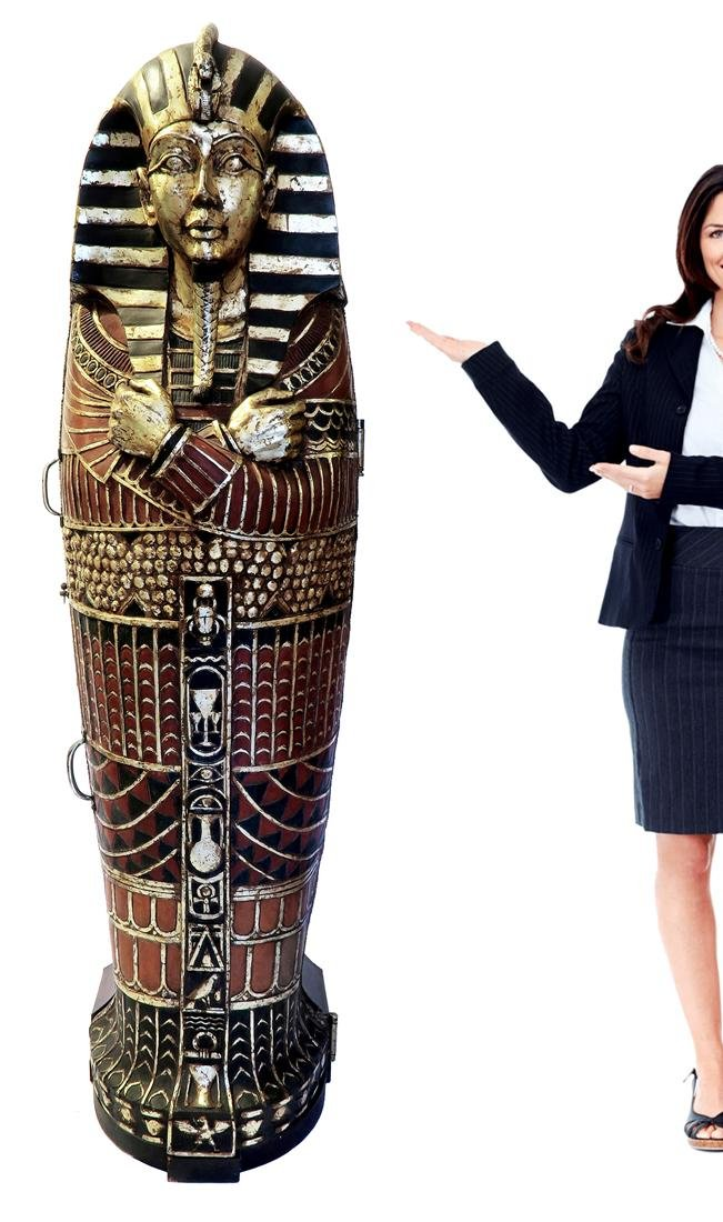French Life Size Covered Sarcophagus Converted to a Bar