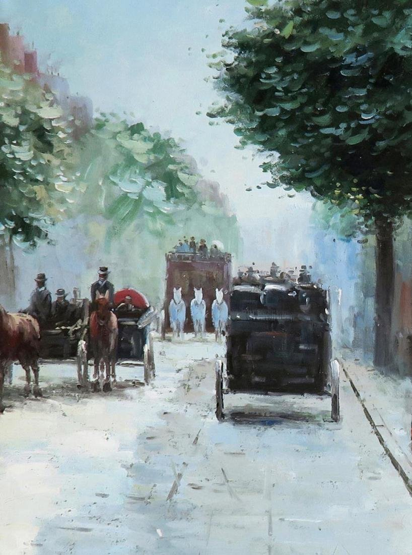 A Large Oil on Canvas After Jean Beraud - 3