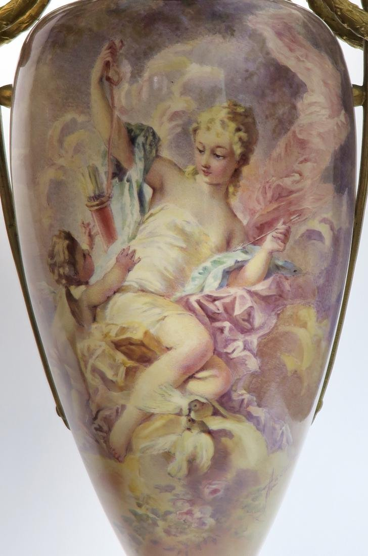 A Pair of Large 19th C. Sevres Vases Signed Maxant - 5