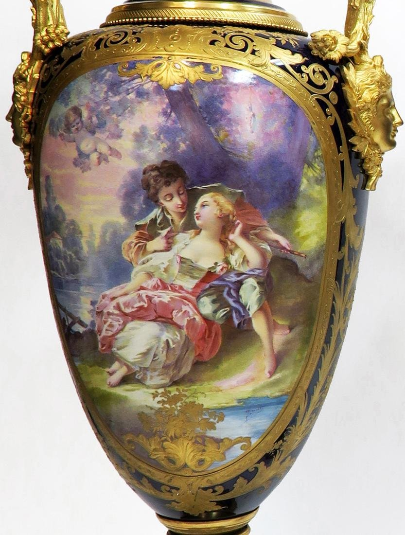 Pair of 19th C. Monumental Sevres Vases. Museum Quality - 3