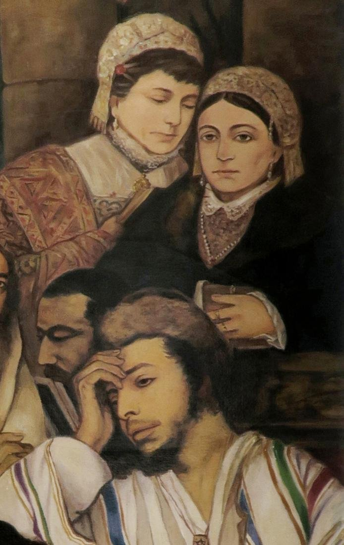 A Large Judaica Oil on Canvas, After Maurycy Gottlieb - 5