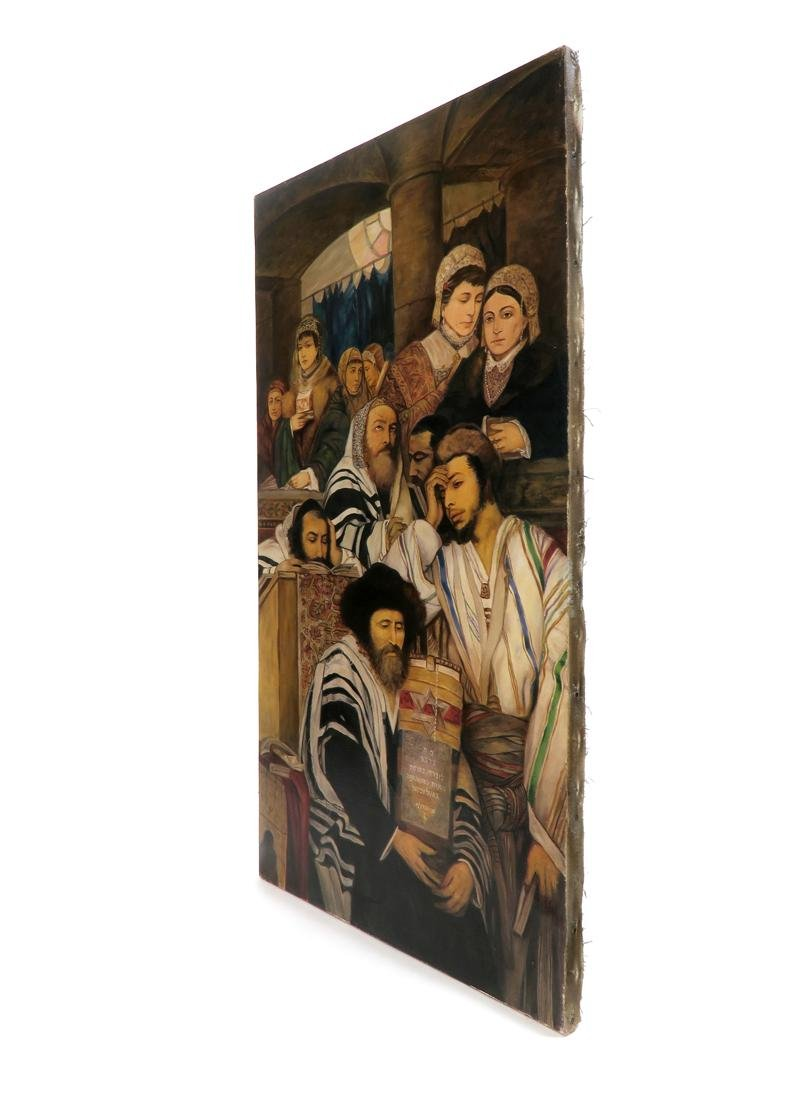 A Large Judaica Oil on Canvas, After Maurycy Gottlieb - 6