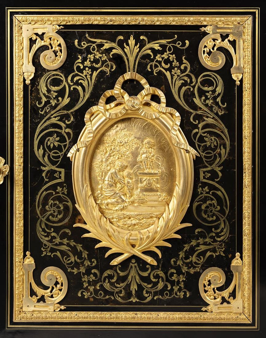Louis XIV style Bronze & Marble Boulle Marquetry - 2