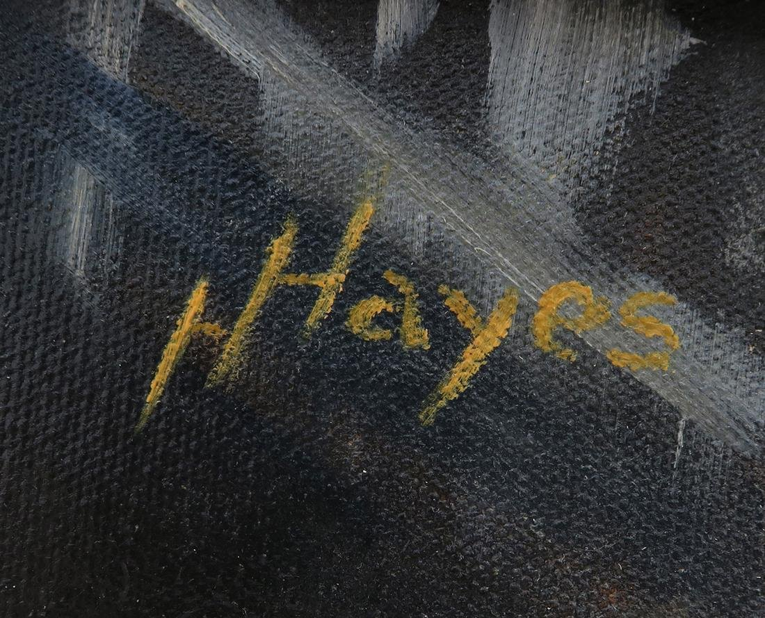 Rabbi Judaica Oil on Canvas Painting By Hayes - 4