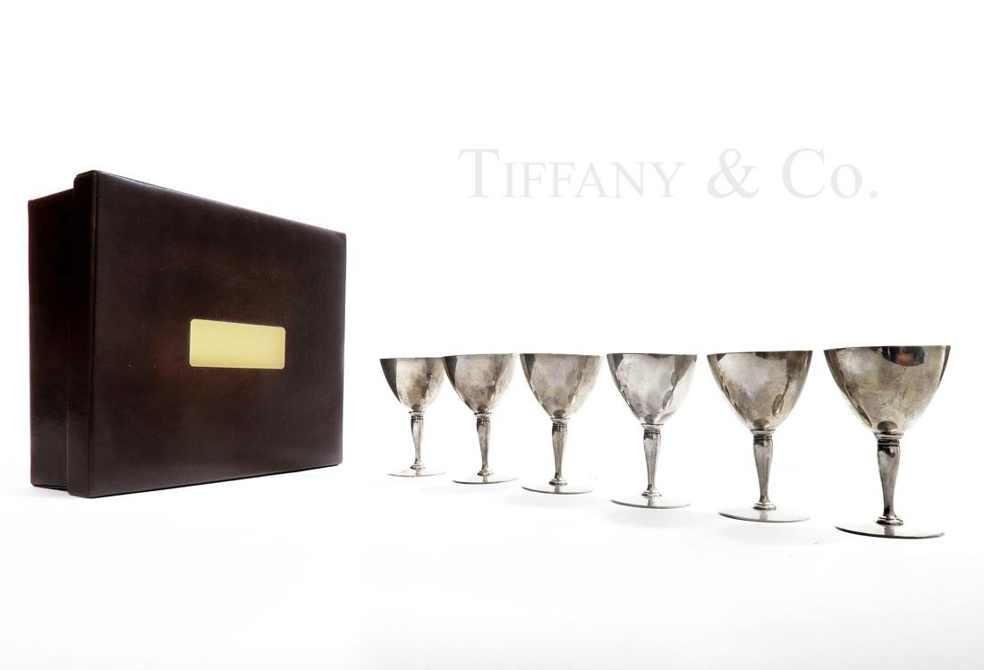 Tiffany & Co Sterling Silver Aperitif Goblets Set 6 Pcs