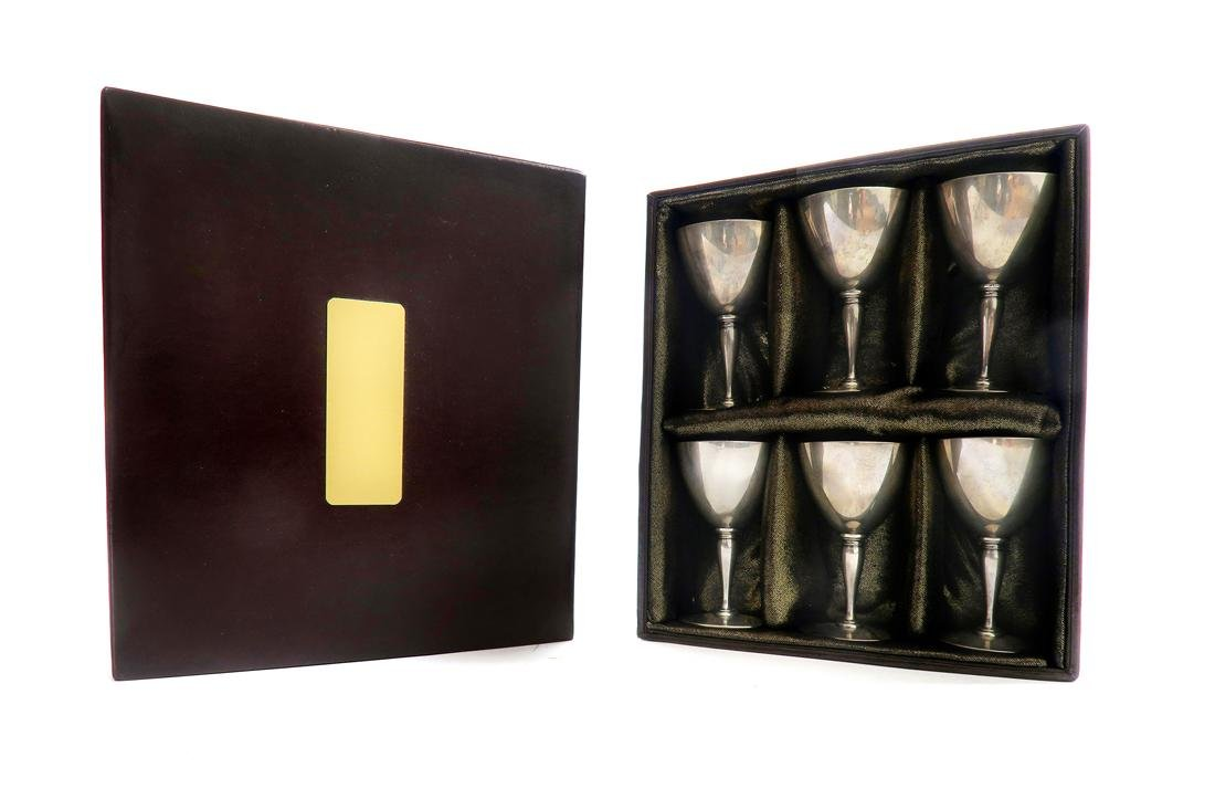 Tiffany & Co Sterling Silver Aperitif Goblets Set 6 Pcs - 2