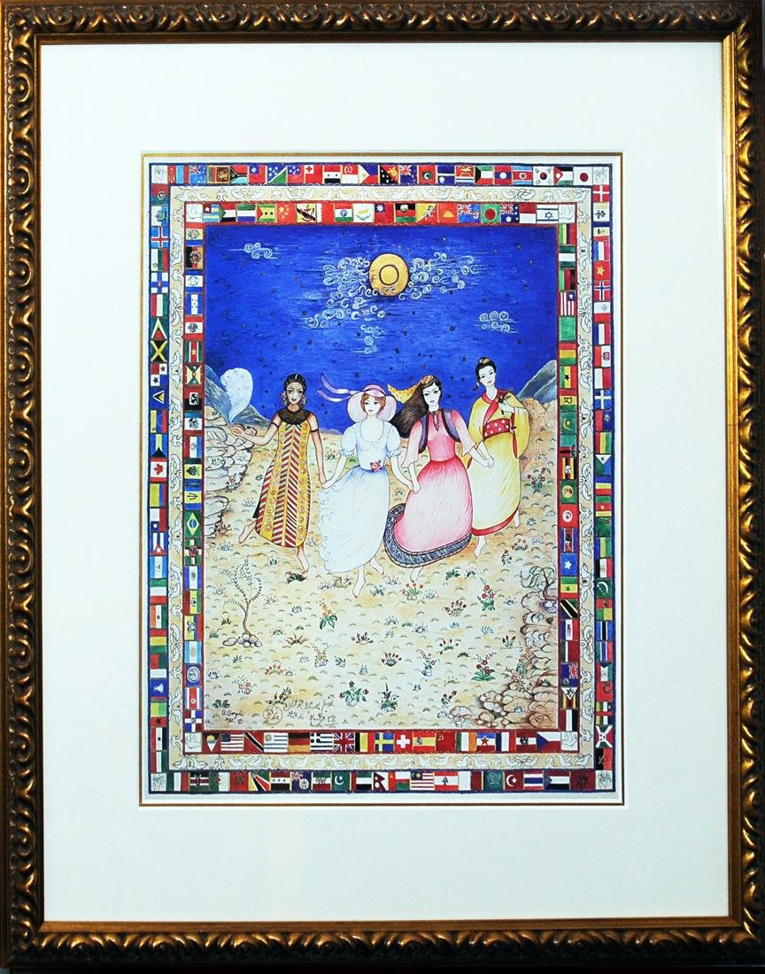 A Persian Miniature Painting By Badri Borghei