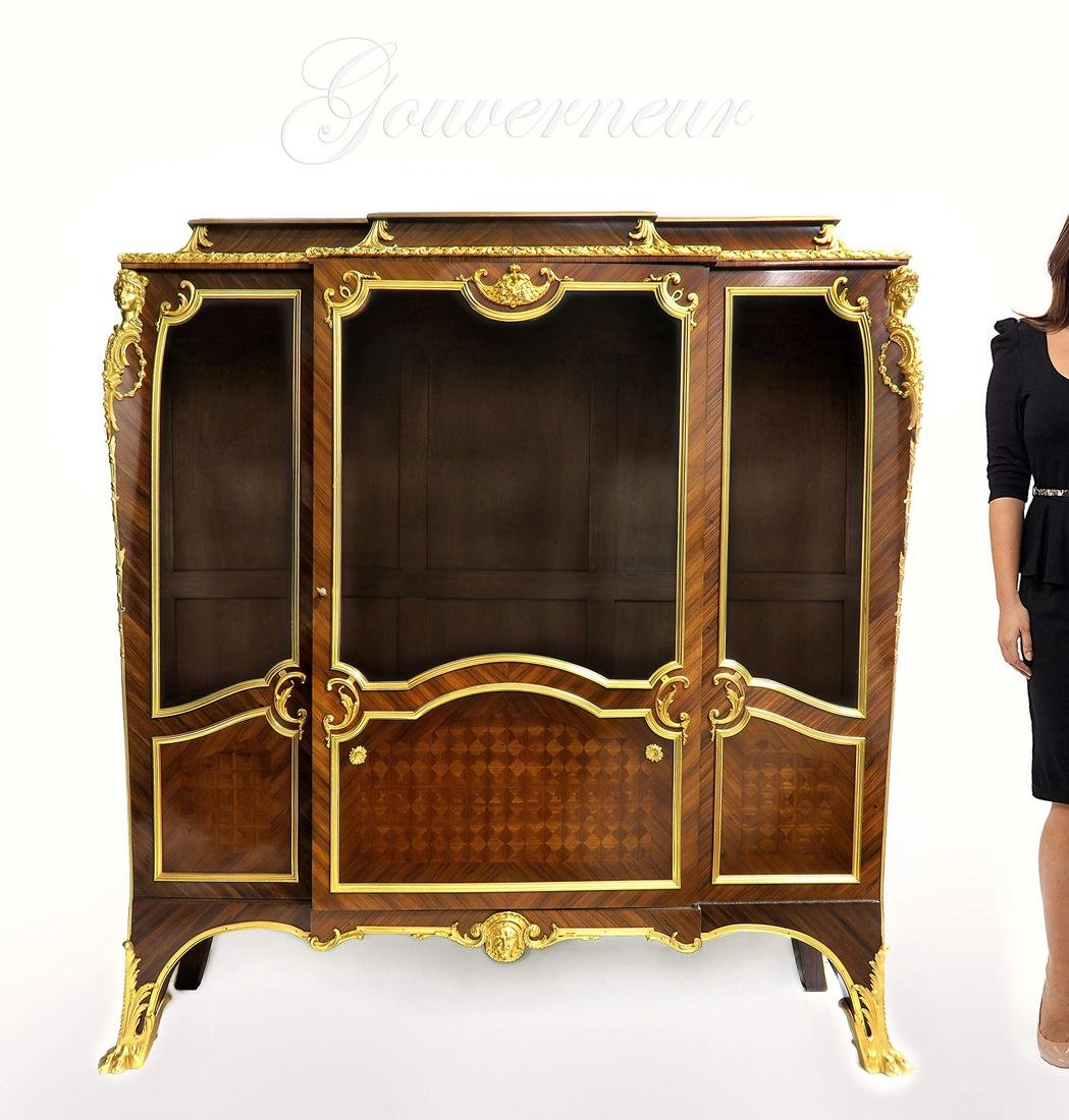 A Gouverneur Bronze Mounted Kingwood Vitrine Cabinet