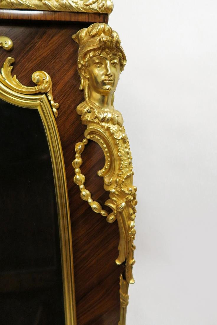 A Gouverneur Bronze Mounted Kingwood Vitrine Cabinet - 5