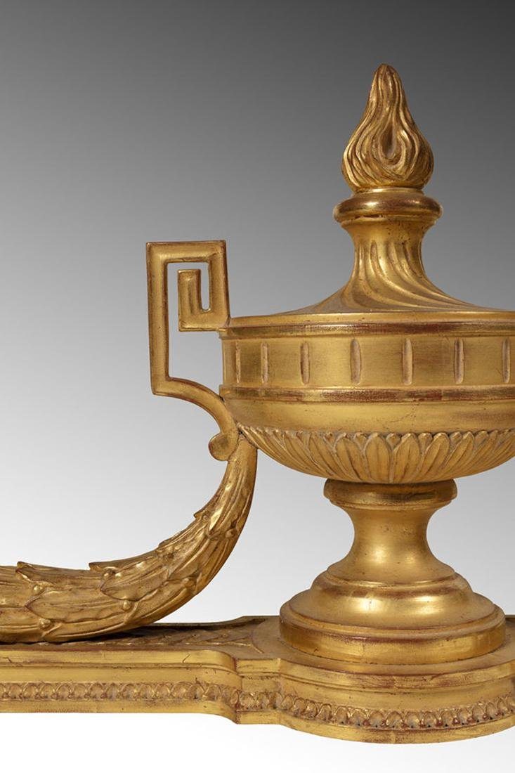 A Pair of Guilt Wood & Marble Console, Louis XVI style - 2