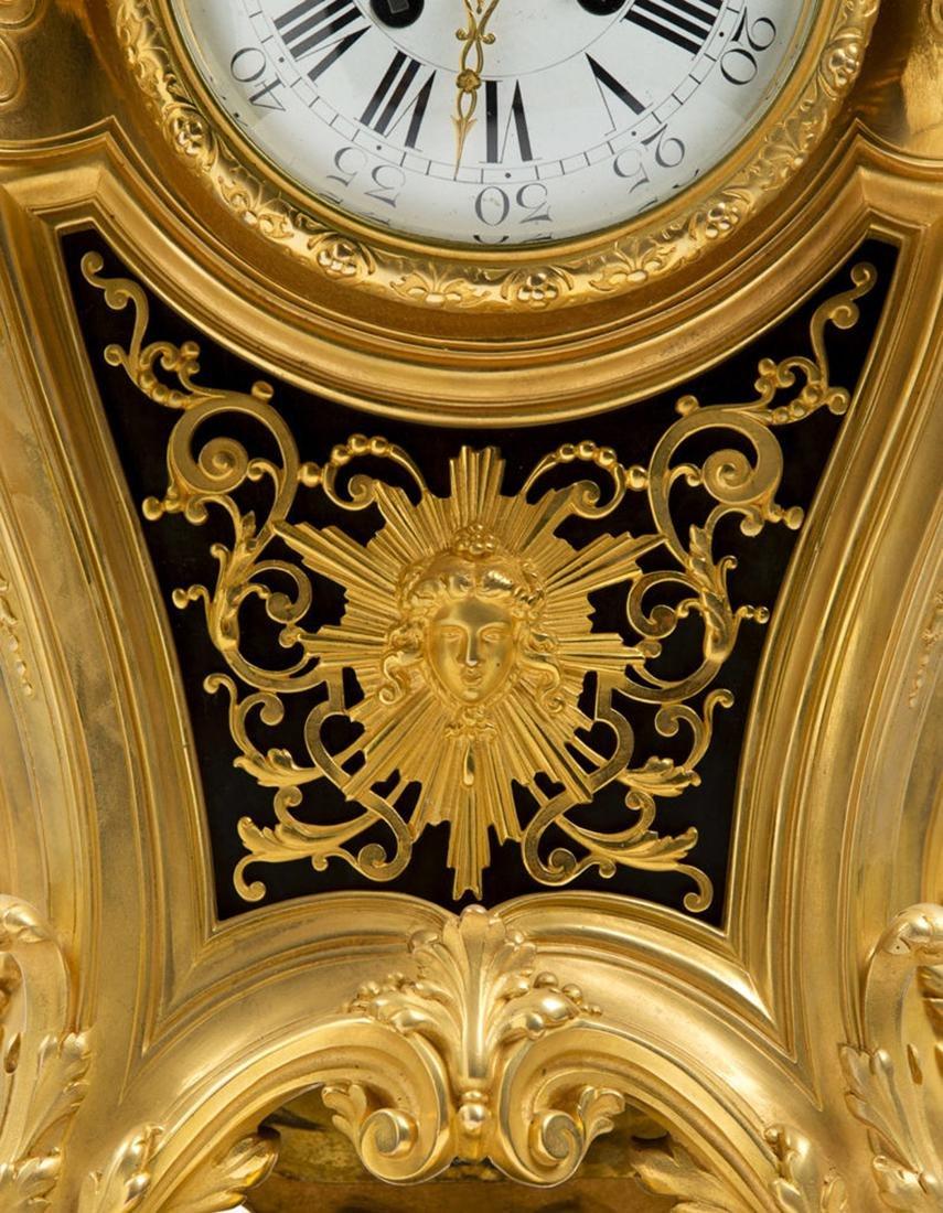 A Louis XVI style Bronze Clock on Tray - 2