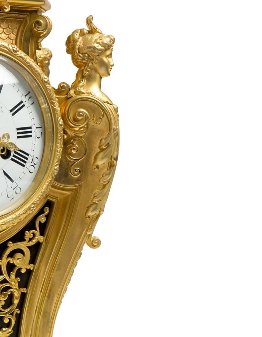 A Louis XVI style Bronze Clock on Tray - 4