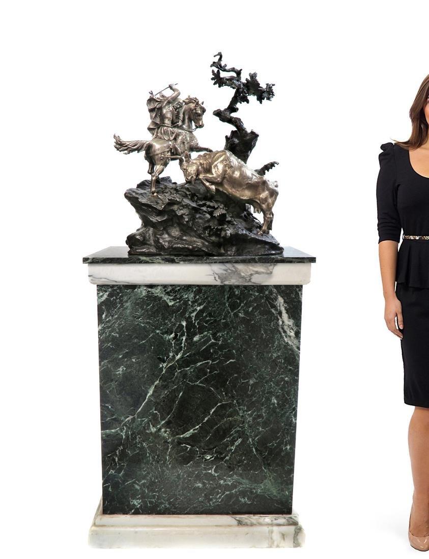 19th C. Monumental French Figural Bronze by Peyrol