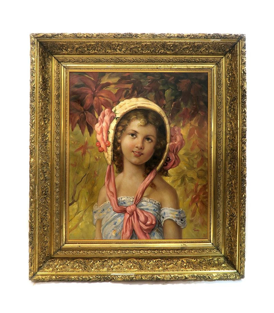 A Little Girl Portrait By (After) Emile Vernon