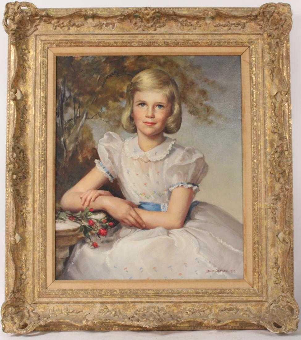 Oil on Canvas, Portrait of Girl, Louise Alston