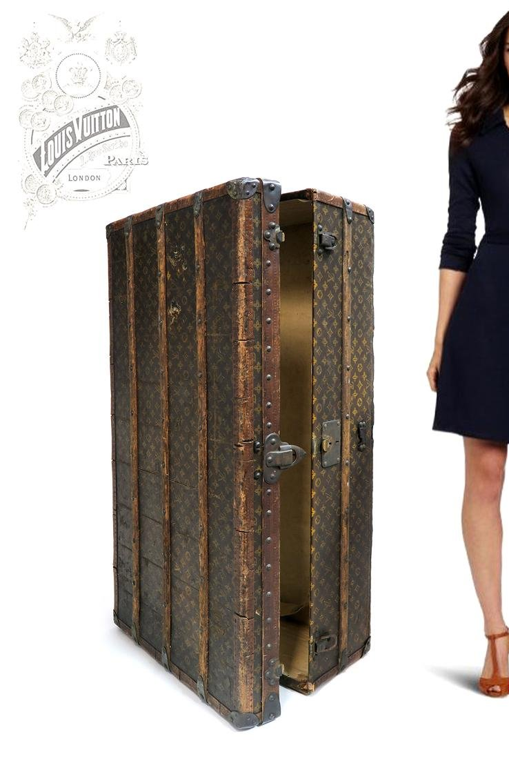 A Large Louis Vuitton Trunk / Wardrobe