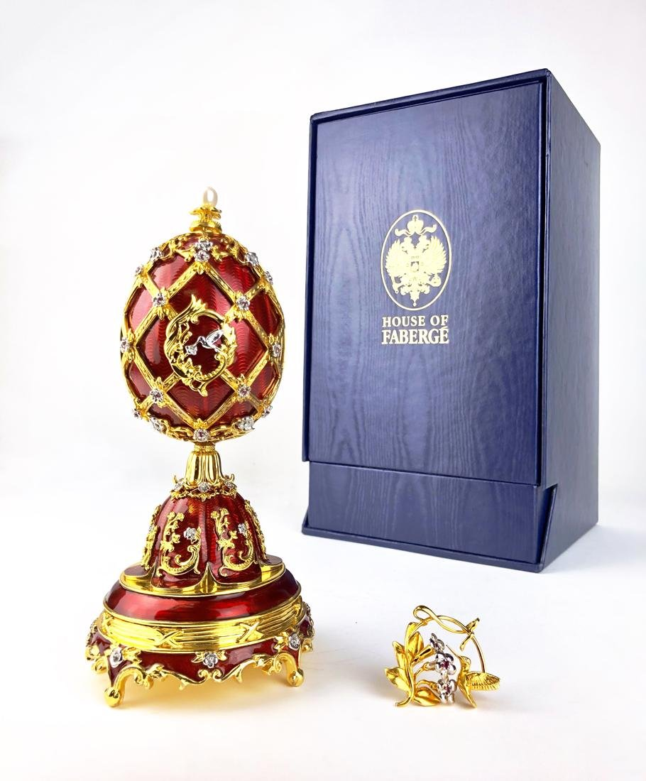 Faberge Imperial Sterling Silver Imperial Musical Egg