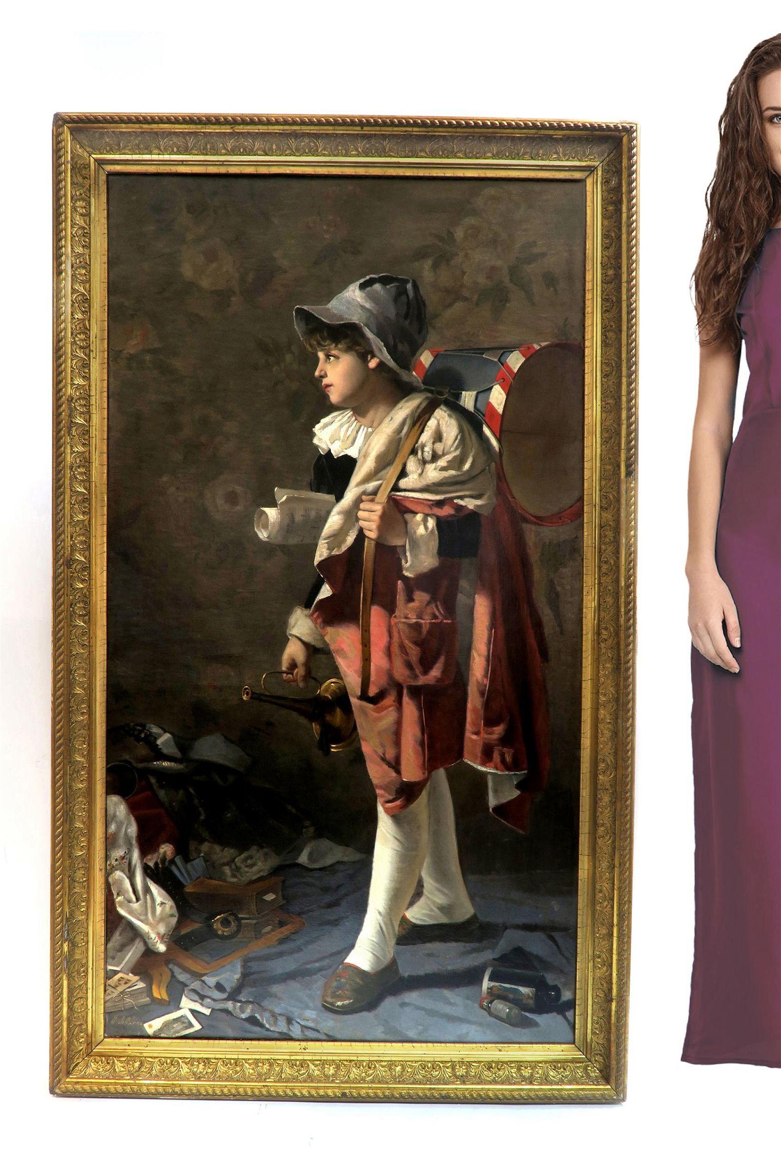 Eugene de Blaas (Austrian, 1843-1931) Oil on Canvas