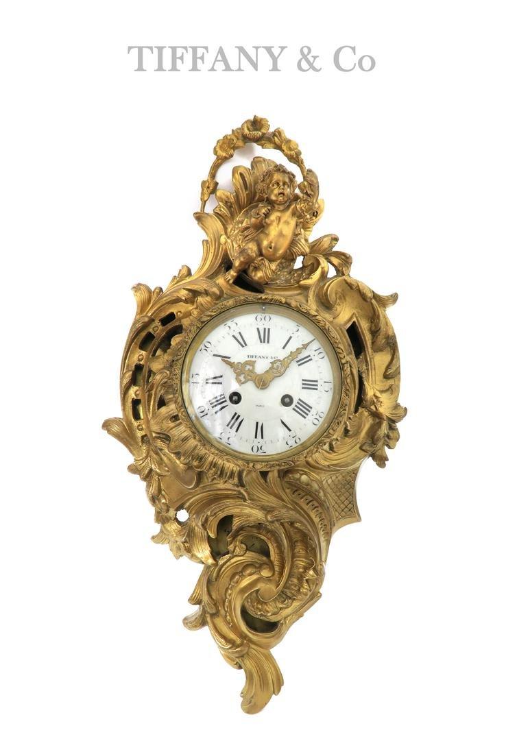 19th C. Tiffany & Co Bronze Figural Wall Clock