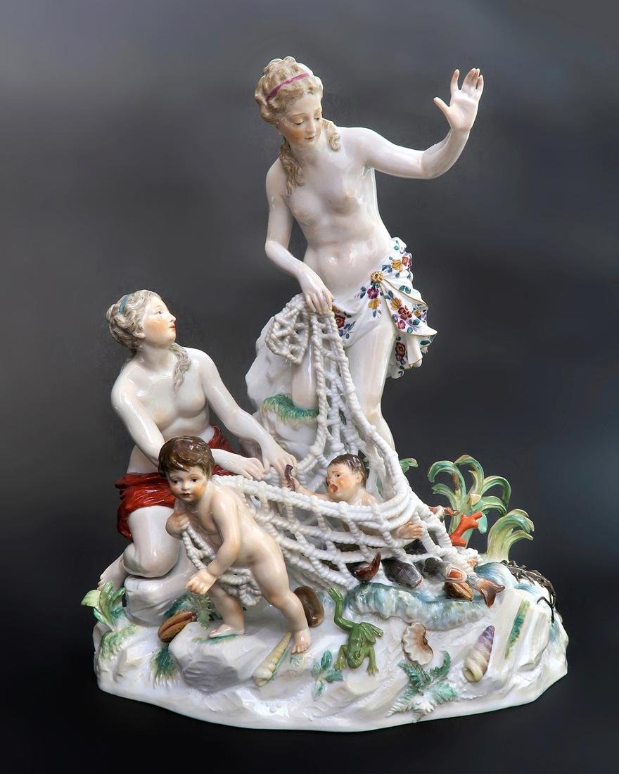 Very Large Meissen Figural Group, 19th C.